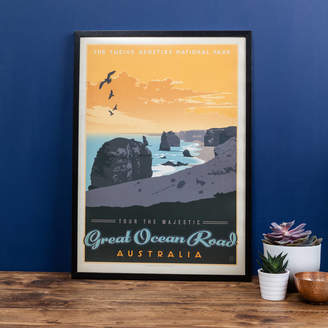 I Heart Travel Art. Australia's 'Great Ocean Road' Travel Print