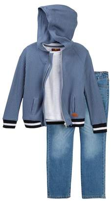 7 For All Mankind Hoodie, Tee, & Jeans Set (Toddler Boys)