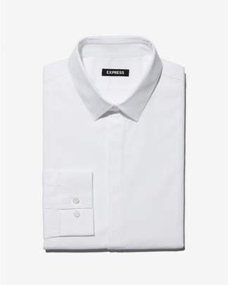 Express extra slim fit tuxedo dress shirt