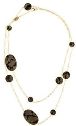 Ippolita 18K Bronze Calcite Station Necklace