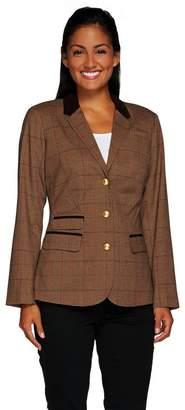 Liz Claiborne New York Heritage Collection Blazer w/ Suede