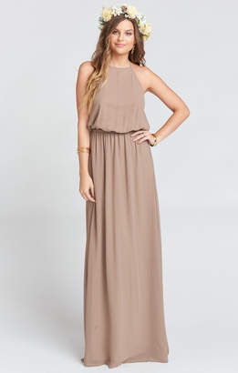 Show Me Your Mumu Heather Halter Dress ~ Dune Chiffon