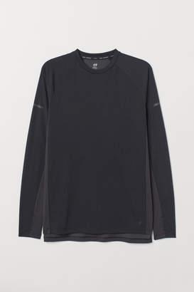 H&M Long-sleeved Running Shirt - Black