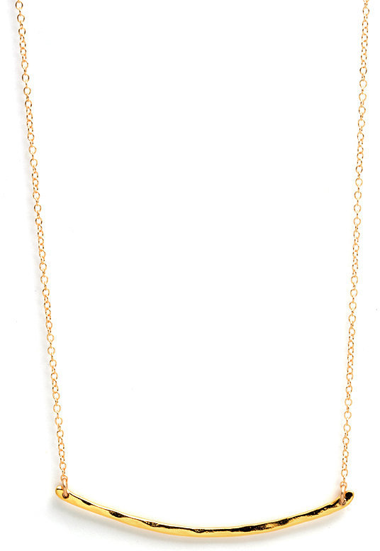 Gorjana Taner Bar Necklace, Gold