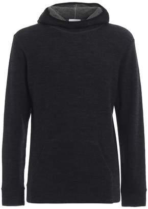Dondup Hoodie-inspired Grey Merino Wool Pullover