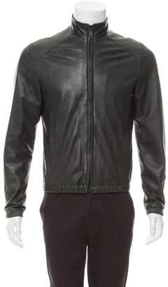 Spurr Leather Bomber Jacket