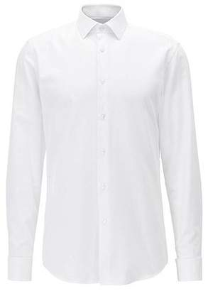 HUGO BOSS Slim-fit shirt in cotton with double cuffs