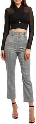Bardot 54002Pb Belted Check Pant