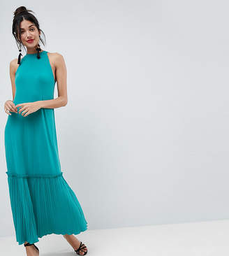 Asos Tall TALL High Neck Maxi Sundress With Pleated Hem