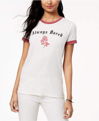 Freeze 24-7 Juniors' Always Bored Graphic-Print T-Shirt