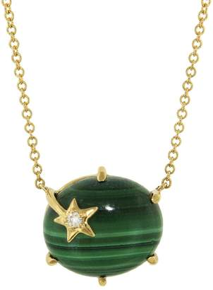 Andrea Fohrman Malachite Mini Galaxy Necklace - Yellow Gold