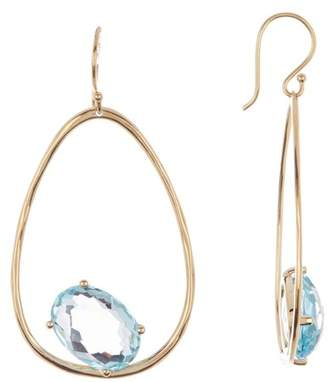 Ippolita 18K Yellow Gold Rock Candy Large Suspension Blue Topaz Earrings