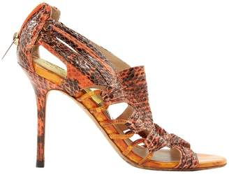 Jimmy Choo Orange Water snake Heels