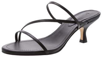 Schutz Evenise Strappy Kitten-Heel Leather Sandals