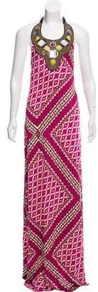 Tory Burch Silk Printed Maxi Dress