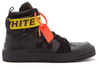 Off-White Off White Industrial High Top Leather Trainers - Mens - Black