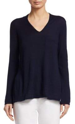 TSE x SFA Two-Tone Plisse Cashmere Sweater