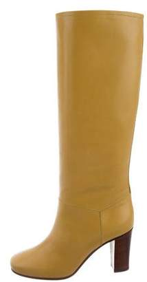 Celine Leather Knee-High Boots w/ Tags