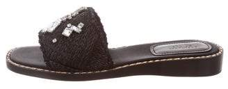 Creatures of the Wind Raffia Slide Sandals