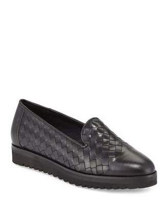 Sesto Meucci Naia Woven Leather Loafer, Black