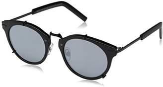 Foster Grant Item 8 Ms.5 Round Matte Black Women's Designer Sunglasses