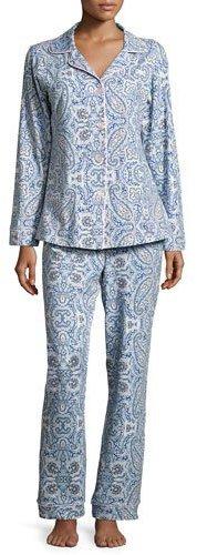BedHeadBedhead Boho Paisley-Print Classic Pajama Set, Indigo