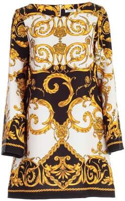 P.A.R.O.S.H. Dress L/s A Line Printed Baroque