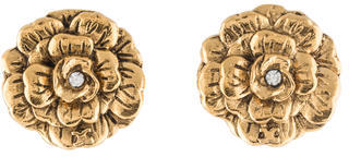 Chanel Chanel Camillia Clip On Earrings