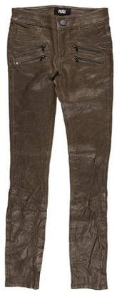 Paige Leather Skinny Pants w/ Tags