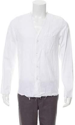 Yang Li Distressed Button-Up Shirt