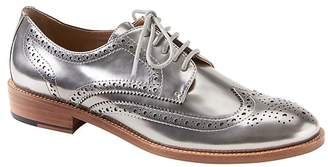 Banana Republic Silver Patent Leather Brogue Oxford