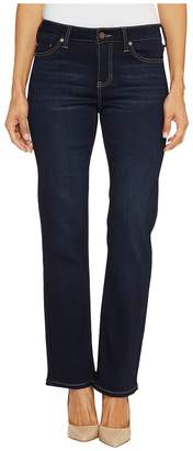 Liverpool Petite Sadie Straight Soft Fabric with Superb Stretch in Stone Wash Women's Jeans