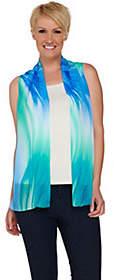 Susan Graver Printed Sheer Chiffon Vest
