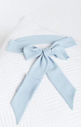 Show Me Your Mumu Bridesmaids Sash ~ Steel Blue Chiffon