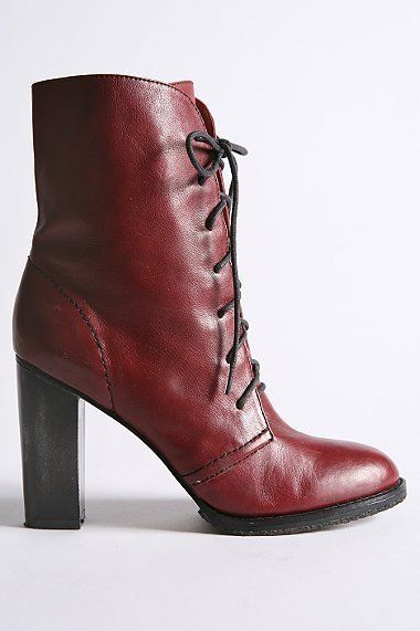 Ruby Leather Lace-Up Boot
