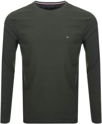 Tommy Hilfiger Slim Fit Long Sleeve T Shirt Green
