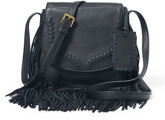 Polo Ralph Lauren Fringe Leather Crossbody Bag $298 thestylecure.com