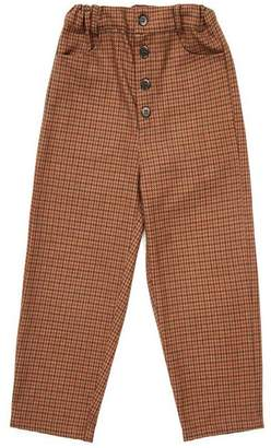 Caramel Houndstooth Panda Trousers 3-6 Years