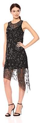 Parker Women's Danica Sleeveless Beaded Midi Length Dress