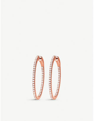 Folli Follie Fashionably Silver Essentials rose gold small hoop earrings