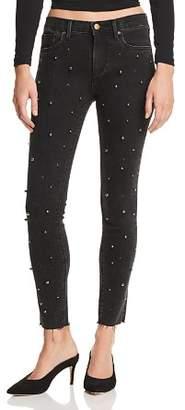 Aqua Beaded Skinny Jeans in Black - 100% Exclusive