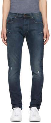 Diesel Blue Ripped Tepphar Jeans