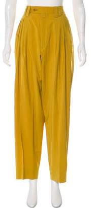 Gianni Versace High-Rise Virgin Wool Pants