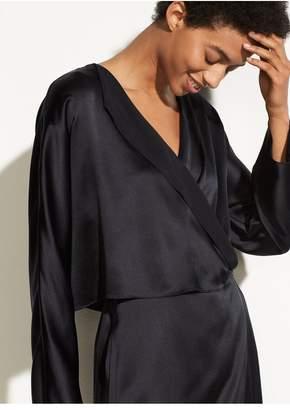 Vince Drape Panel Silk Dress