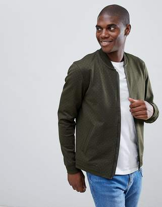 Ted Baker jersey bomber in green geo print