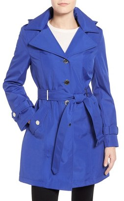 Calvin Klein Single Breasted Belted Trench Coat (Regular & Petite) $198 thestylecure.com
