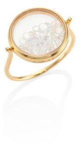 Aurelie BidermannAurelie Bidermann Diamond & 18K Yellow Gold Chivor Ring