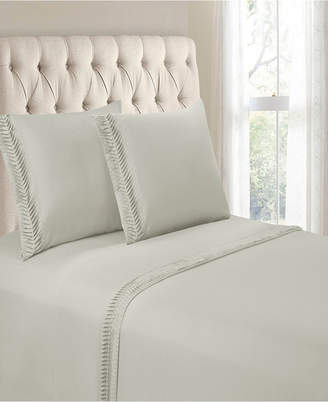 Hudson Cathay Home Inc. & Main Arrow Pleated Hem 4 Pieces Queen Sheet Set Bedding