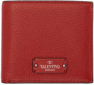 Valentino Red Garavani Logo Patch Bifold Wallet