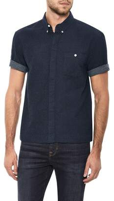Joe's Jeans Harvey League Short Sleeve Slim Fit Shirt